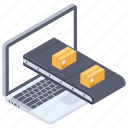 online delivery, online logistic, online package, online parcel, online shipping icon