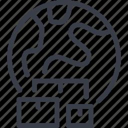 bar code, destination, direction, logistics, map, navigation, route icon