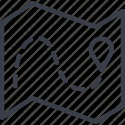 bar code, destination, load, logistics, map, navigation, route icon