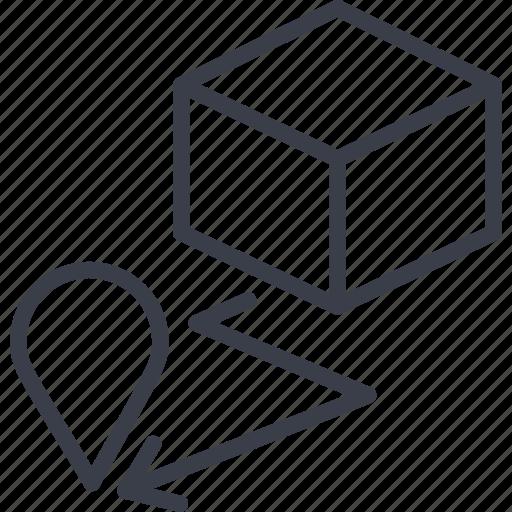 bar code, destination, load, logistics, navigation, route, storage icon