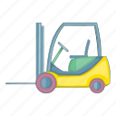 forklift, loader, transport icon