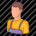 man, warehouse, worker icon