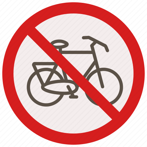 allowed, bikes, no, prohibited, signs, warning icon