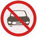 car, no, prohibited, signs, warning icon