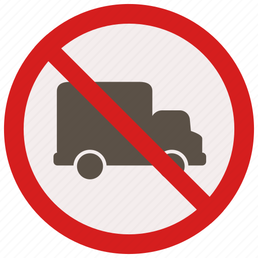delivery, no, prohibited, signs, trucks, warning icon