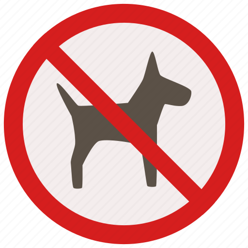 allowed, dogs, no, prohibited, signs, warning icon