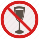 drinks, no, prohibited, signs, warning icon