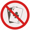 gambling, no, prohibited, signs, warning icon