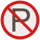 no, parking, prohibited, signs, warning icon