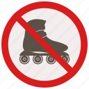 no, prohibited, signs, skates, warning icon