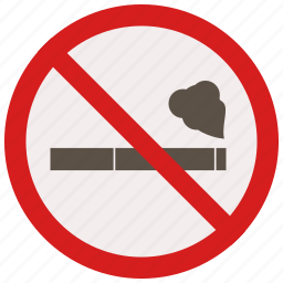 allowed, no, prohibited, signs, smoking, warning icon