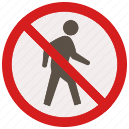 no, prohibited, signs, walking, warning icon