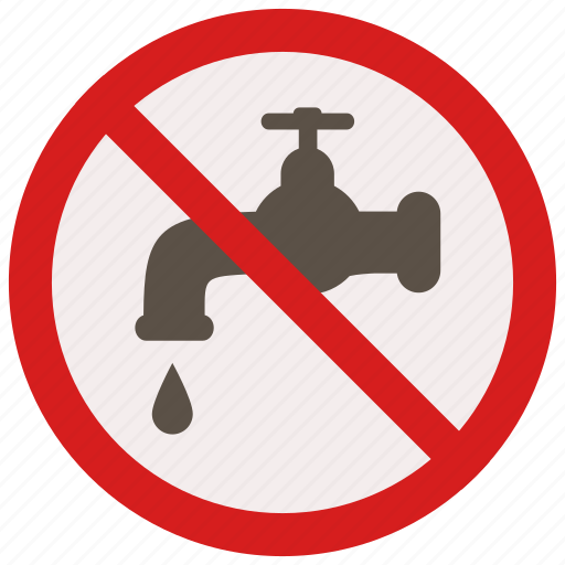 no, prohibited, signs, tab, warning, water icon
