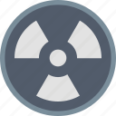 attention, caution, danger, nuclear, radiation, radioactive, warning icon