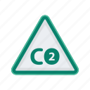 alert, carbon, dioxide, sign, signs, warning icon