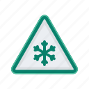 alert, cold, ice, sign, signs, warning icon