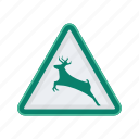alert, deer, sign, signs, warning icon