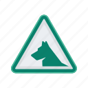 alert, dog, sign, signs, warning icon