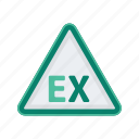 alert, ex, sign, signs, warning icon