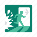 alert, escape, explosion, sign, signs, warning icon