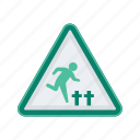 alert, graveyard, sign, signs, warning icon