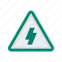alert, electricity, high, sign, signs, voltage, warning icon