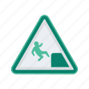 alert, ledge, sign, signs, warning icon