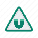 alert, magnetic, sign, signs, warning icon