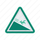 alert, sign, signs, slide, warning icon