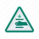 alert, hand, sign, signs, squeeze, warning icon
