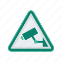 alert, camera, sign, signs, surveillance, warning icon