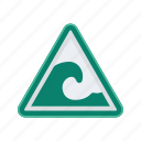 alert, sign, signs, tidal, warning, wave icon