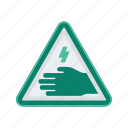 alert, electricity, sign, signs, touch, warning icon
