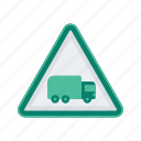 alert, sign, signs, truck, warning icon