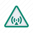 alert, sign, signs, warning, wireless icon