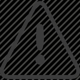 exclamation, sign, warning, warning sign icon