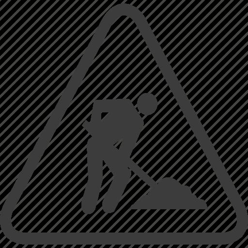 construction, sign, warning, warning sign icon