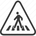 crosswalk, pedestrian, sign, warning, warning sign icon