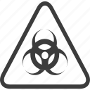 biohazard, hazardous, sign, warning, warning sign icon