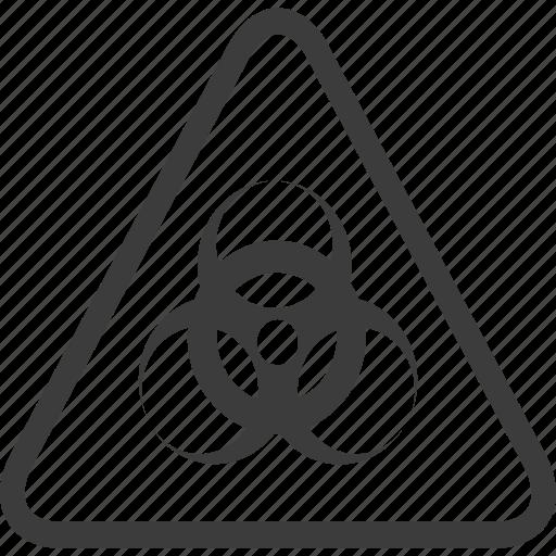 biohazard, hazardous, sign, warning, warning sign icon