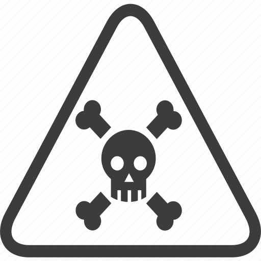 dead, death, poison, sign, warning, warning sign icon
