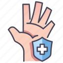 care, clean, hand, health, protect, protection, shield