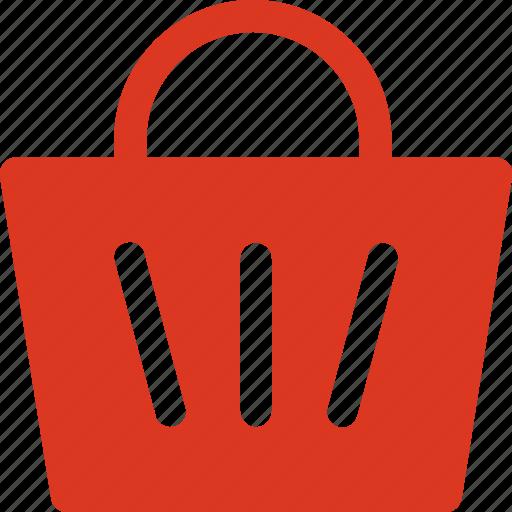 bucket, cart, shopping, shopping cart icon icon