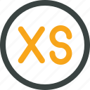 extra, measure, size, small, xs icon icon
