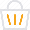 bucket, cart, shopping, shopping cart icon icon