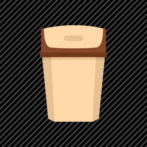big trashcan, household, logo, protection, throw, traditional, trash icon