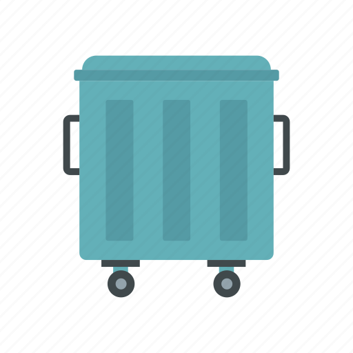 household, logo, metal trashcan, protection, throw, traditional, trash icon