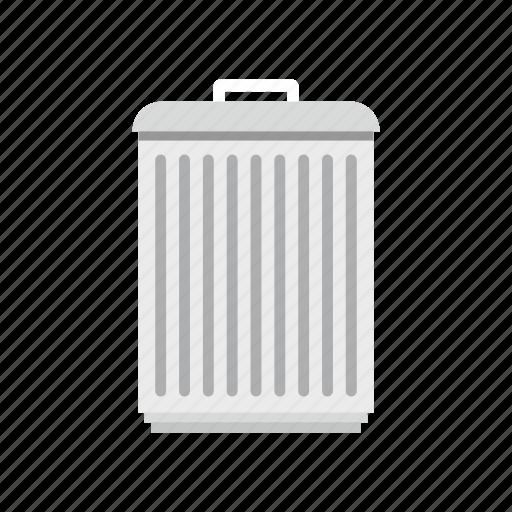 household, logo, protection, throw, traditional, trash, trashcan icon