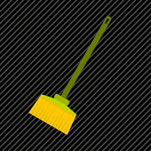 besom, broom, dirty, floor, logo, stick, sweeper icon