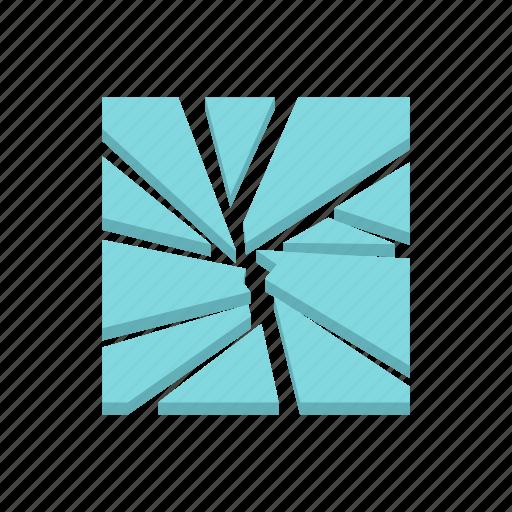 broken, crack, crash, glass, sharp, shattered, window icon